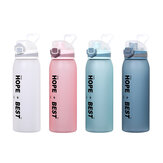 DILLER 31oz 900ML Tritan BPA Free Water Bottles With Leak-proof Lock Portable Large Capacity Outdoor Sport Drink Kettle