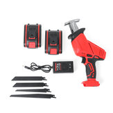 21V 88VF Electric Saw Cordless Charging Reciprocating Saw Kit LED Light 2 Battery Wood Cutter Set