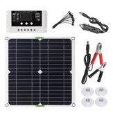 200W Solar Panel Çift USB DC Şarj Cihazı Kit + 10A/20A/30A Solar Denetleyici