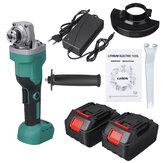 100mm / 125mm Esmerilhadeira angular elétrica sem escova de polimento ferramenta de corte e polimento com 1/2 Bateria para Makita
