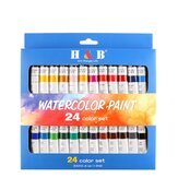 H&B Professional 24-Color 12ML Propylene Pigment Hand-Painted Set Wall Painting DIY Watercolor Paint Set