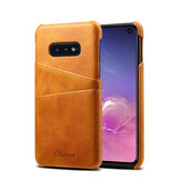 Premium Cowhide Leather Card Slot Protective Case For Samsung Galaxy S10e 5.8 Inch