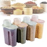 4 шт. Пластиковый герметичный контейнер для пищевых продуктов 1,9 л Коробка Рисовые зерна для хранения на кухне Коробка