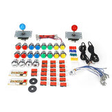 50PCS DIY Arcade Joystick Kit USB Chip Board 32mm LED Botones 5Pin Joystick Plating Button Cable USB