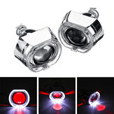 2.5 Inch Angel & Devil Demon Eye LED Headlights HID Bi-Xenon Projector Lens Kit H1 LHD/RHD