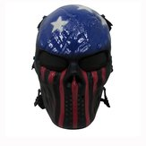 Tactical Warrior Militærkrig Game Paintball CS Field Udstyr Airsoft Full Face Mask