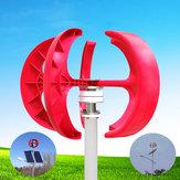 12V/24V 100W Red Lantern Style Vertical Wind Turbine Wind Power Generator