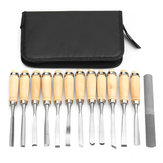 14Pcs Wood Carving Hand Chisel Tools Set Woodworking Professional Gouges Kit