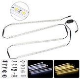 4 STKS 50 CM 5050SMD Waterdichte LED Stijve Strip HardLight Connector Combo Kit voor Outdoor Indoor DC12V
