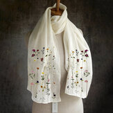 Women Multi-purpose Lightweight Floral Pattern Elegant Long Scarf Shawl