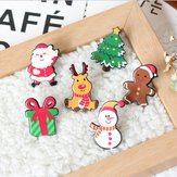 Christmas Mini Festive Snowman Elk Brooch New Year Decorationsl Gift Shirt Collar Brooch
