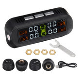 TY-1 TY-1 Tyre الضغط مراقب System Real-time Tester LCD شاشة with 4 خارجي Sensors Auto القوة On Off