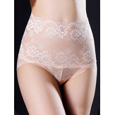 Cintura alta Lace Seamless Hip Shaping Calcinha Super Elastic Underwear