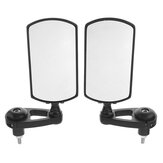 7/8 Inch Foldable Motorcycle Handle Bar End Mirrors Rearview Side Black Metal