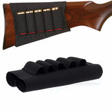 5 Rounds Army Elastic Shotgun Stock Shell Ammo Case Cartridge Holder Hunting Gun Accessories