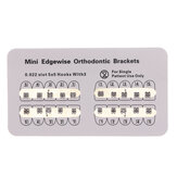 10 pacotes Dental Suportes ortodônticos de metal Edgewise Mini Edgewise 0.022 Slot