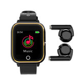 M6 3 in 1 Smart Watch TWS bluetooth Earphone 1.4 inch Multifunction Watch MP3 Player Smart Band with Mic