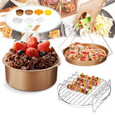 10Pcs/set 7inch Non-stick Air Fryer Accessories Cake Baking Pot BBQ Barbecue Pizza Pan