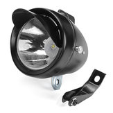 Retro Vintage Classic Metal Bike LED Headlight Front Fog Light Head Lamp Black