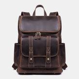 Мужчины Винтаж Многокарманный Защита от краж 15,6 дюймов Рюкзак для ноутбука