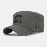 Hommes coton Camouflage motif de broderie réglable Sports de plein air Protection solaire chapeau plat casquette à visière chapeau militaire
