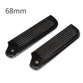 Dynam 68mm Carbon Fiber Tail Blade for 500 Helicopter Pro.0681