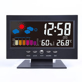 Bakeey Digital LCD Термометр Гигрометр Звук Активированный экран Прогноз погоды Календарь трендов температуры Сигнал дремоты Часы