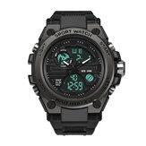SANDA 739 Militaire buitensport Multifunctionele lichtgevende timingkalender Alarm Waterdicht digitaal display met dubbele weergave