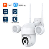 SHIWOJIA 3MP Smart IP Camera Wireless Wifi Double Lamp Lightning Night Vision Two-way Voice Dome Security Surveillance Waterproof Camera