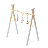 Wood Baby Stand Play Toy Nursery Fun Hanging Toys Mobile Wood Rack Activity Gym