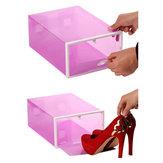 くまの形引き戸のプラスチック収納靴箱厚く透明な結合可能な引き出しオーガナイザー