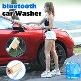 Brosse de lave-auto nettoyeur de tuyau haute pression Batterie Kit d'alimentation avec sac d'eau 10L