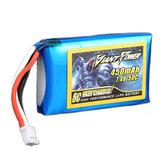 Dev Güç 7.4 V 450 mAh 50C 2S E-flite Blade 130X için Lipo Batarya