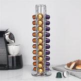 40 sztuk metalowy uchwyt na kapsułki z kawą pasuje do uchwytu do przechowywania kapsułek Nespresso
