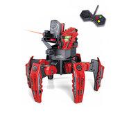 MoFun 2.4G Robot spaziale radiocomandato Spider Warrior Robot a 6 gambe con dischi e vista Laser