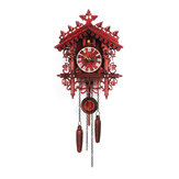 Handcraft Cuckoo Wall Clock Wood Forest Tree House Swing Clock Art Home Decor