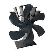 6 Λεπίδες Τζάκι Ανεμιστήρας Ανεμιστήρας Θερμαινόμενος Ανεμιστήρας Eco ανεμιστήρας με θερμότητα