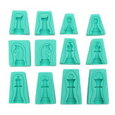 6 Sets 3D Silicone Fondant Cake International Chess Mold Chocolate Cupcake Candy Mould Soap Tool