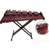 37 Key Red Wood Classical Wooden Xylophone with Mallets/Stand/Storage Bag