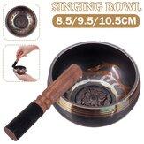 Traditional Meditation Singing Bowl Mat + Wooden Mallet Tibetan Buddhism Nepal