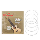 Alices Ukulele Strings Clear Nylon 4 Strings AU04 Mini Hawaiian Guitar Strings