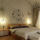Large Wall Reloj Decorativo 3D DIY Lujoso y silencioso y moderno Home Decorations Mirror Surface