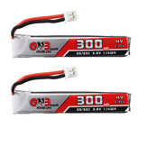 2Pcs Gaoneng GNB 3.8V 300mAh 30C 1S Lipo Батарея PH2.0 Разъем для Happymodel Mobula7 Happymodel Mobula6 Eachine Beta FPV