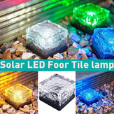 LED Solar Power Buried Light Waterproof Ice Cube Ground Lawn Lamp Outdoor Path Garden Deck Lighting
