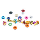10Pcs Aluminum Alloy Colorful M3 Washers Insulation Gasket Rings for Screws