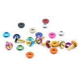 10 sztuk kolorowych stopów M3 podkładki izolacyjne pierścienie uszczelniające dla śrub
