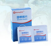 50Pcs Alcohol Swabs Pads Wet Wipes 75% Isopropyl First Aid Home Skin Cleanser Sterilization