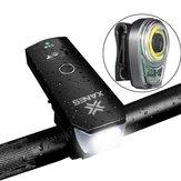 XANES BLS01 Bike Light Set SFL02 600LM T6 Smart Induction Front Light STL02 Smart Taillight USB Rechargeale