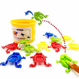 13PCS Kids Toys Jumping Game Bouncing Frog Hopper Party Favor Birthday Education