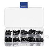 Suleve ™ M2NH4 M2 Nylon Vida Siyah Altıgen Vida Somun Nylon PCB Standoff Çeşitleri Kit 300 Adet